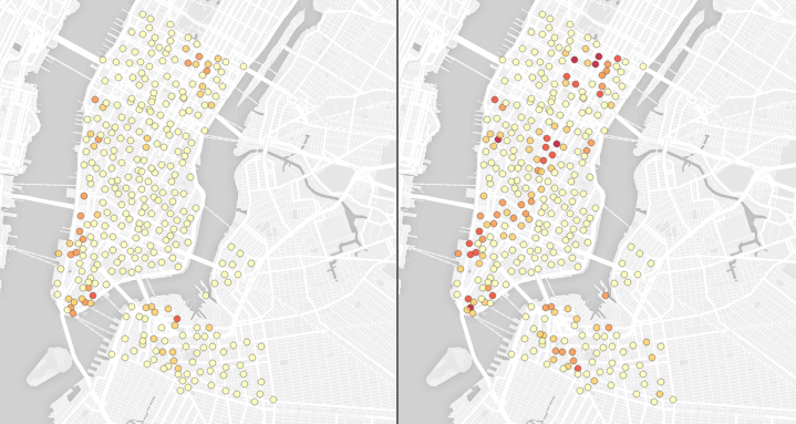 Screenshot of Citi Bike deserts