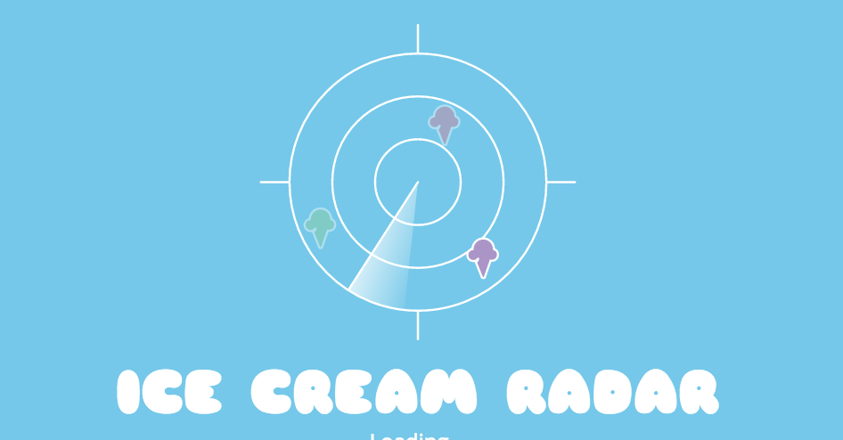 Screenshot of Ice cream radar
