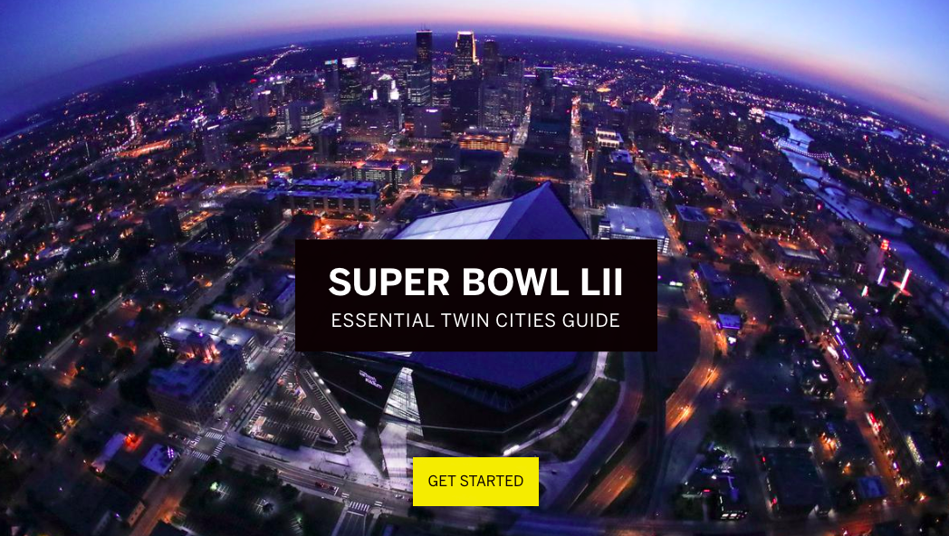 Screenshot of Super Bowl guide